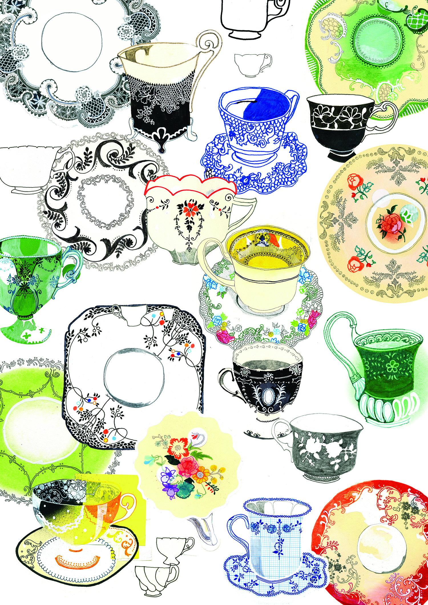 SOI 52 2011 - ARTIST: Hennie HaworthTITLE: Tea setsCLIENT: Habitat UK
