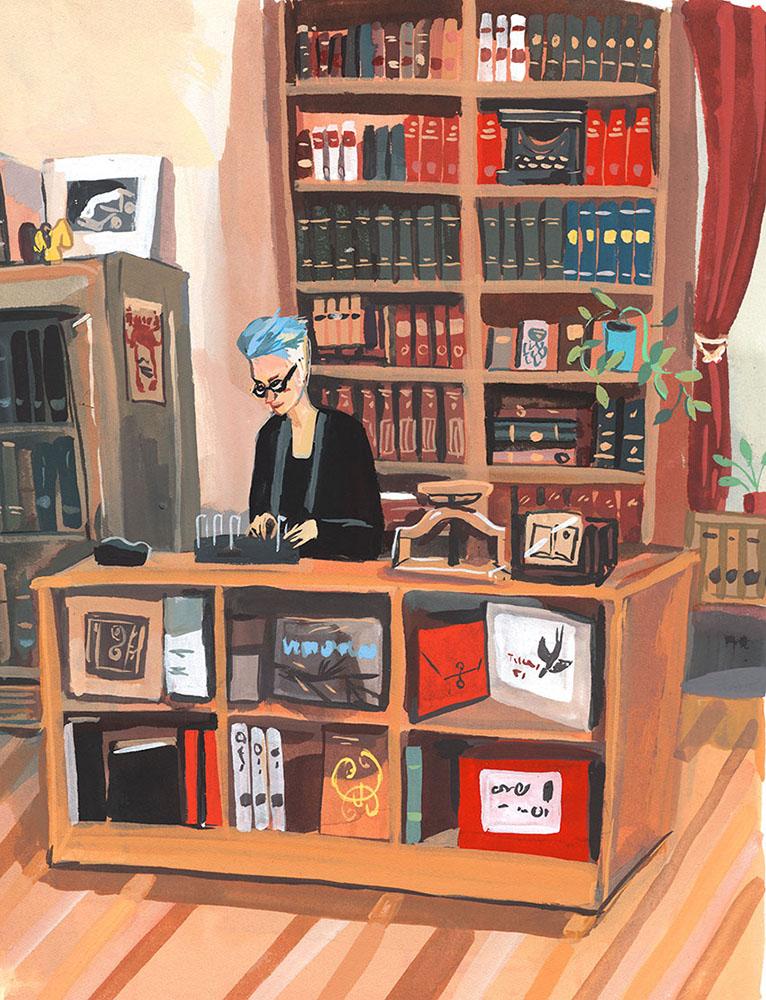 AI 38 2019 - ARTIST: Jenny KroikTITLE: Strand Rare Book Store