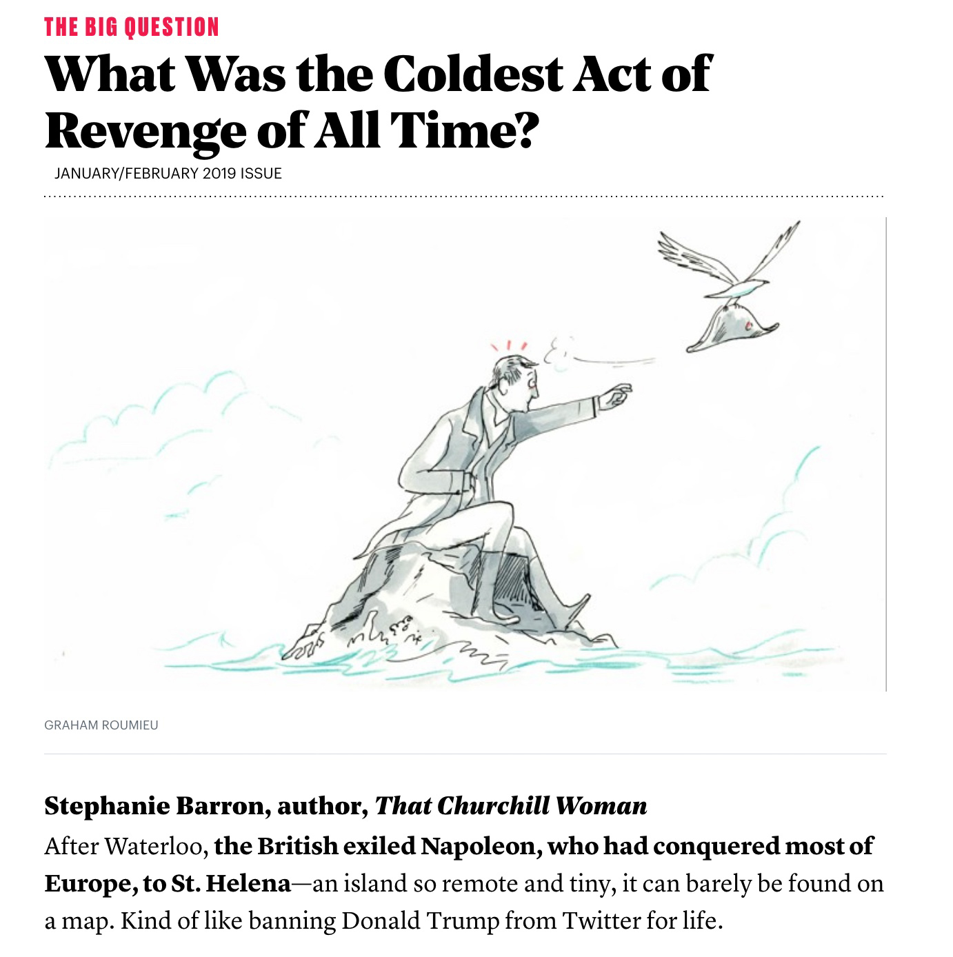 What was the Coldest Act of Revenge? - The Atlantic
