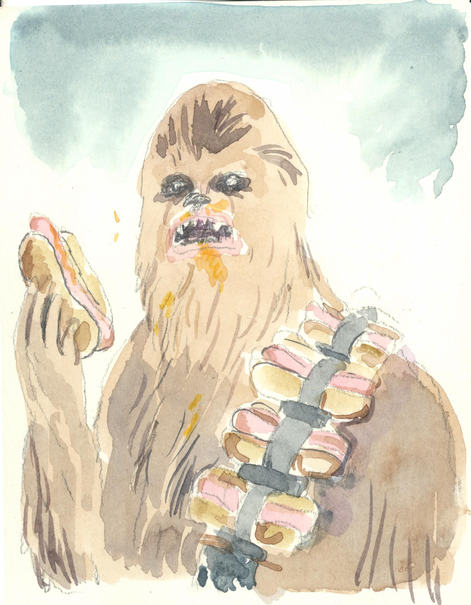 Hot Dog Chewbacca