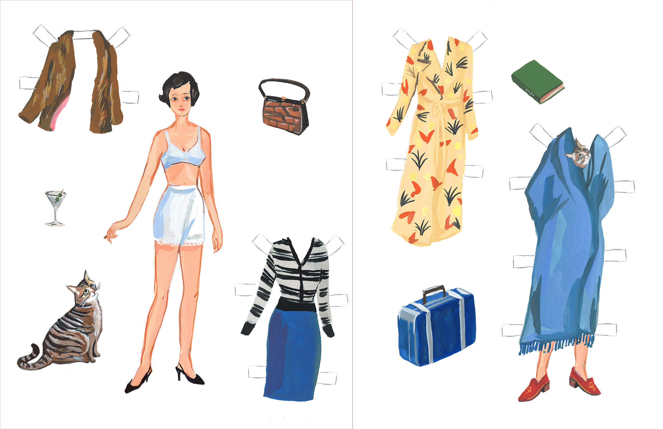 Literary Paper Dolls: Franny - The Paris Review