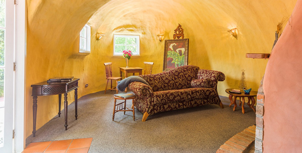 There once was an old lady that lived in a shoe....her living room was fabulous