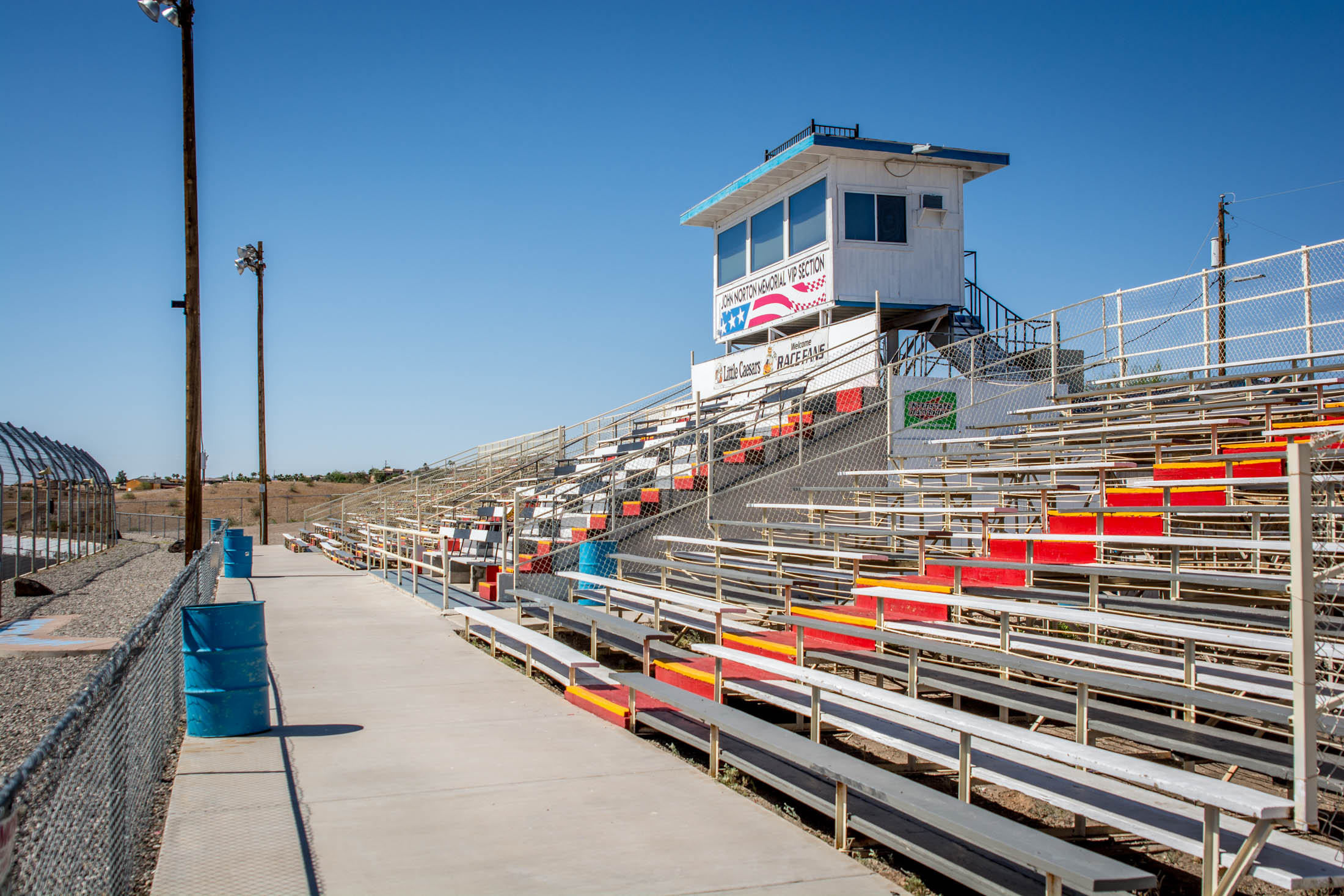 If grandstands aren't your thing, we have a section dedicated to lawn chairs located in Turn One. It's BYOC - Bring your own chair.