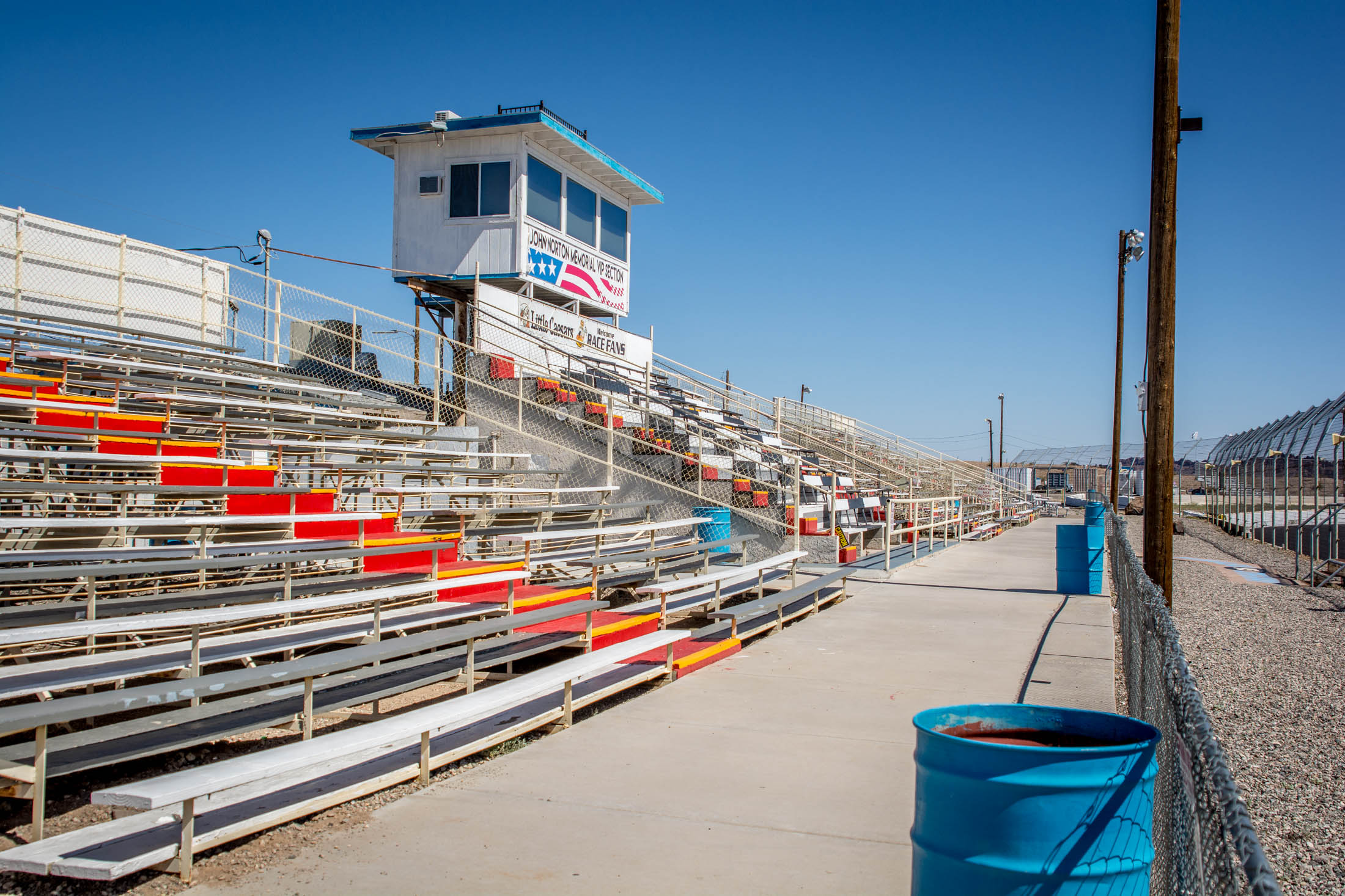 We have a maximum capacity of 2,500+. Our stands provide the best view of the racing and of our gorgeous mountains and lake.
