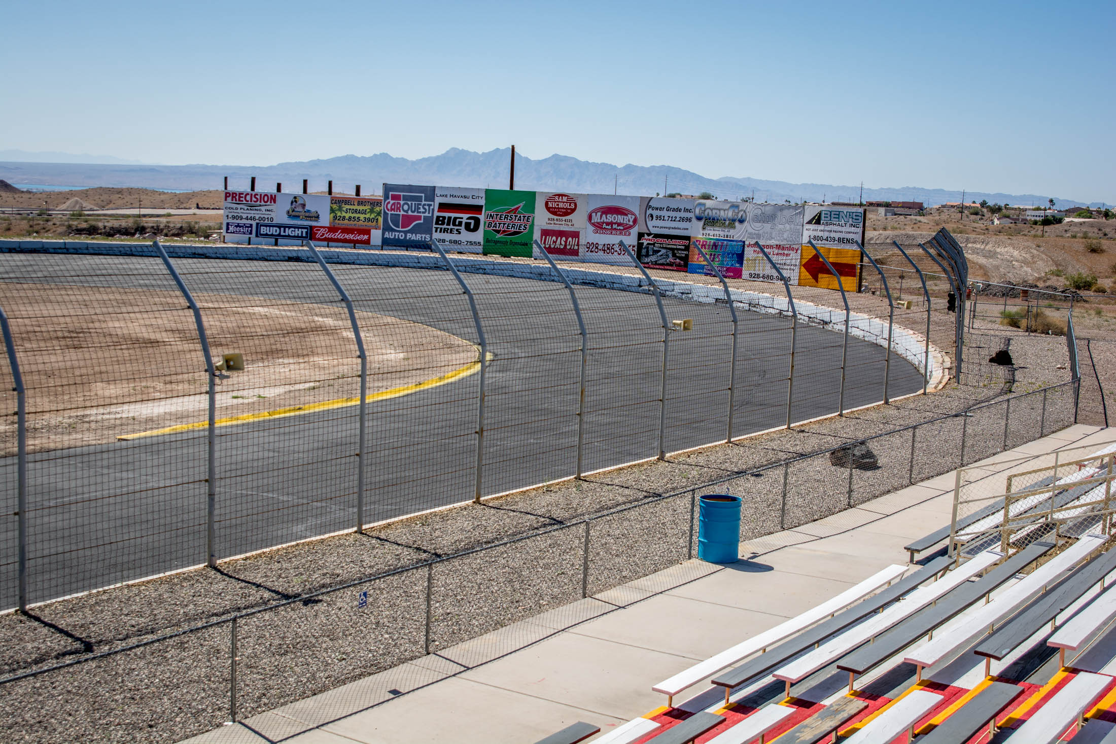 Our 1/4 mile oval is primarily a two-grooved racetrack.