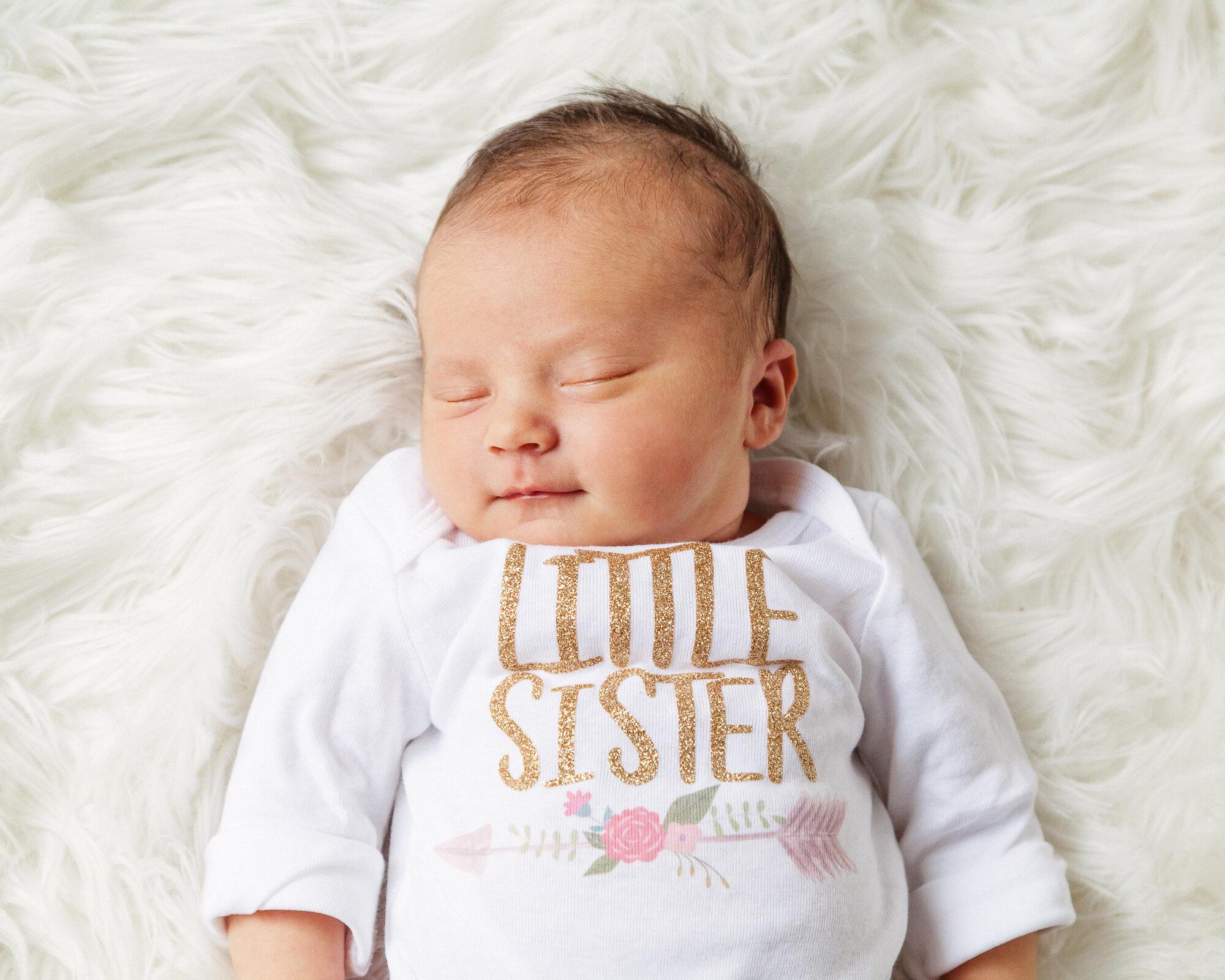 little sister newborn