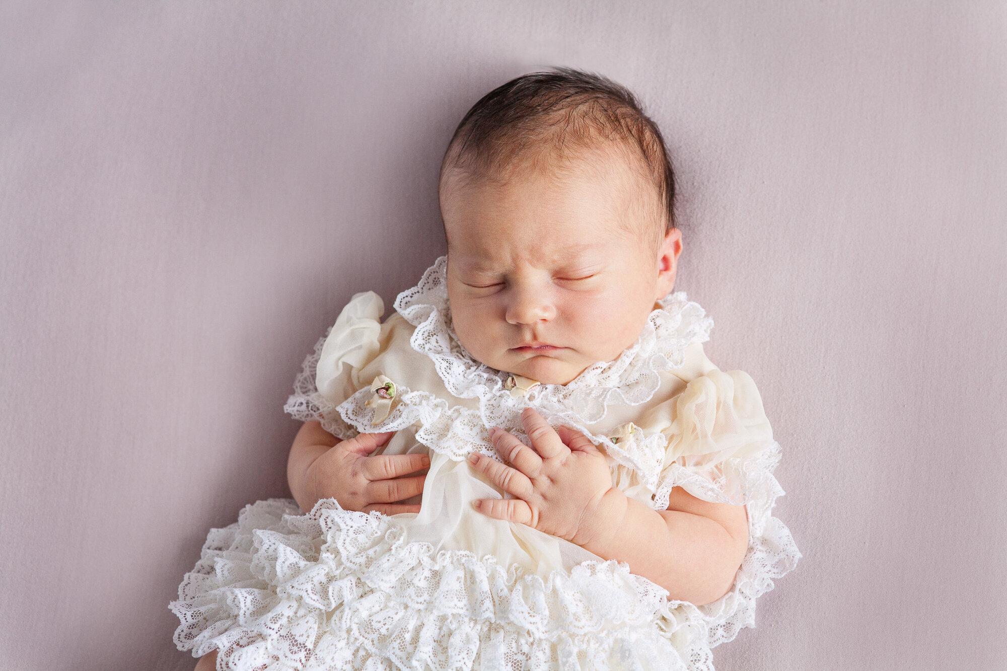 Newborn antique dress