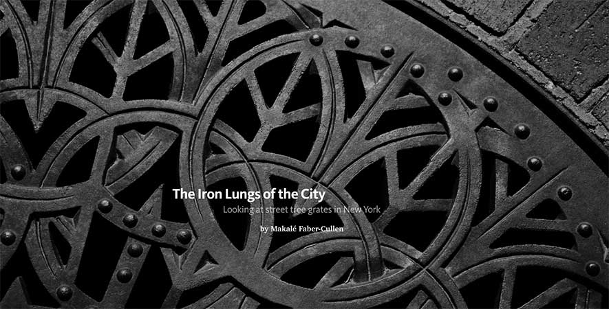 Iron Lungs of the City   Looking at street tree grates in New York City. Published in  re:form , an edited channel on Medium sponsored by BMW, 2015. [  Read  ]