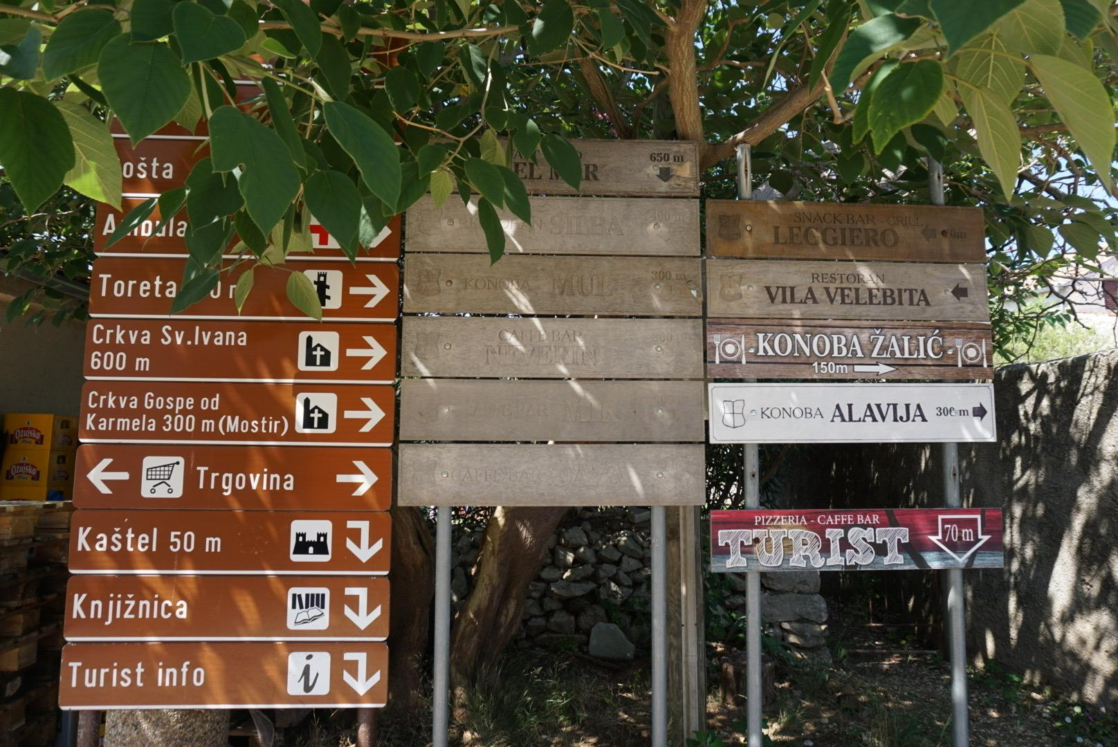 Sign on Silba