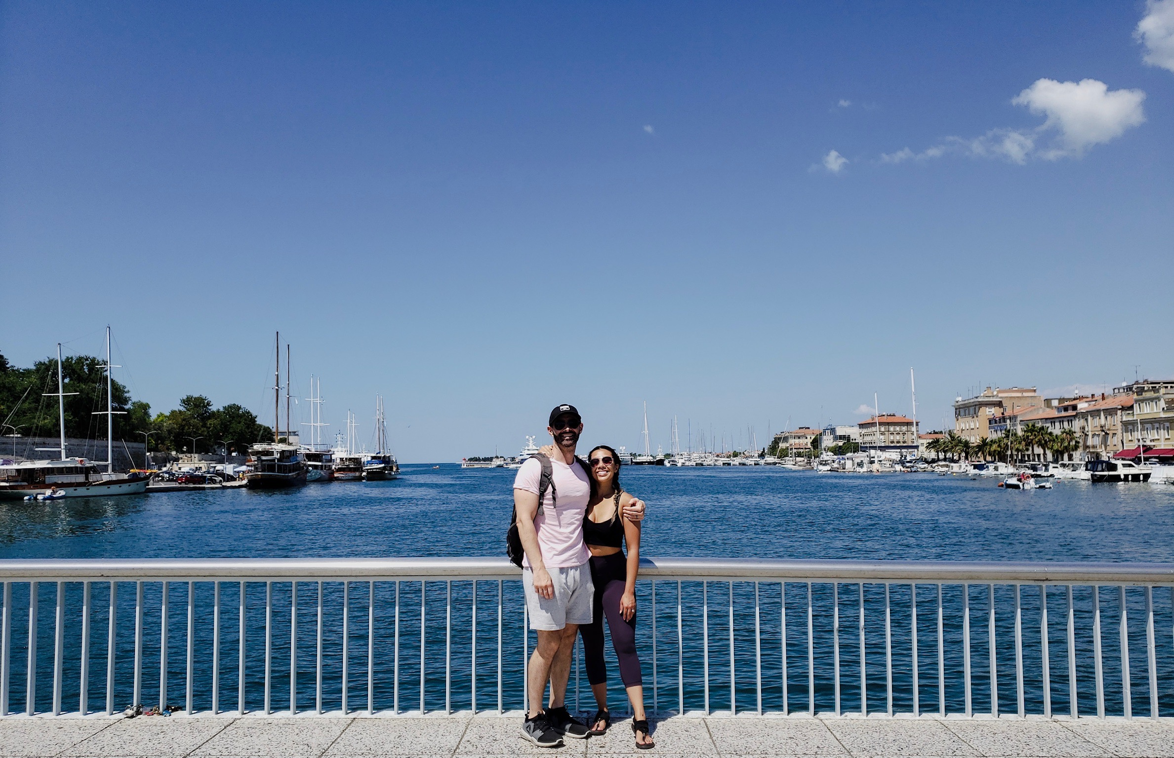 Quick and only photo we got from both our trips to Zadar.