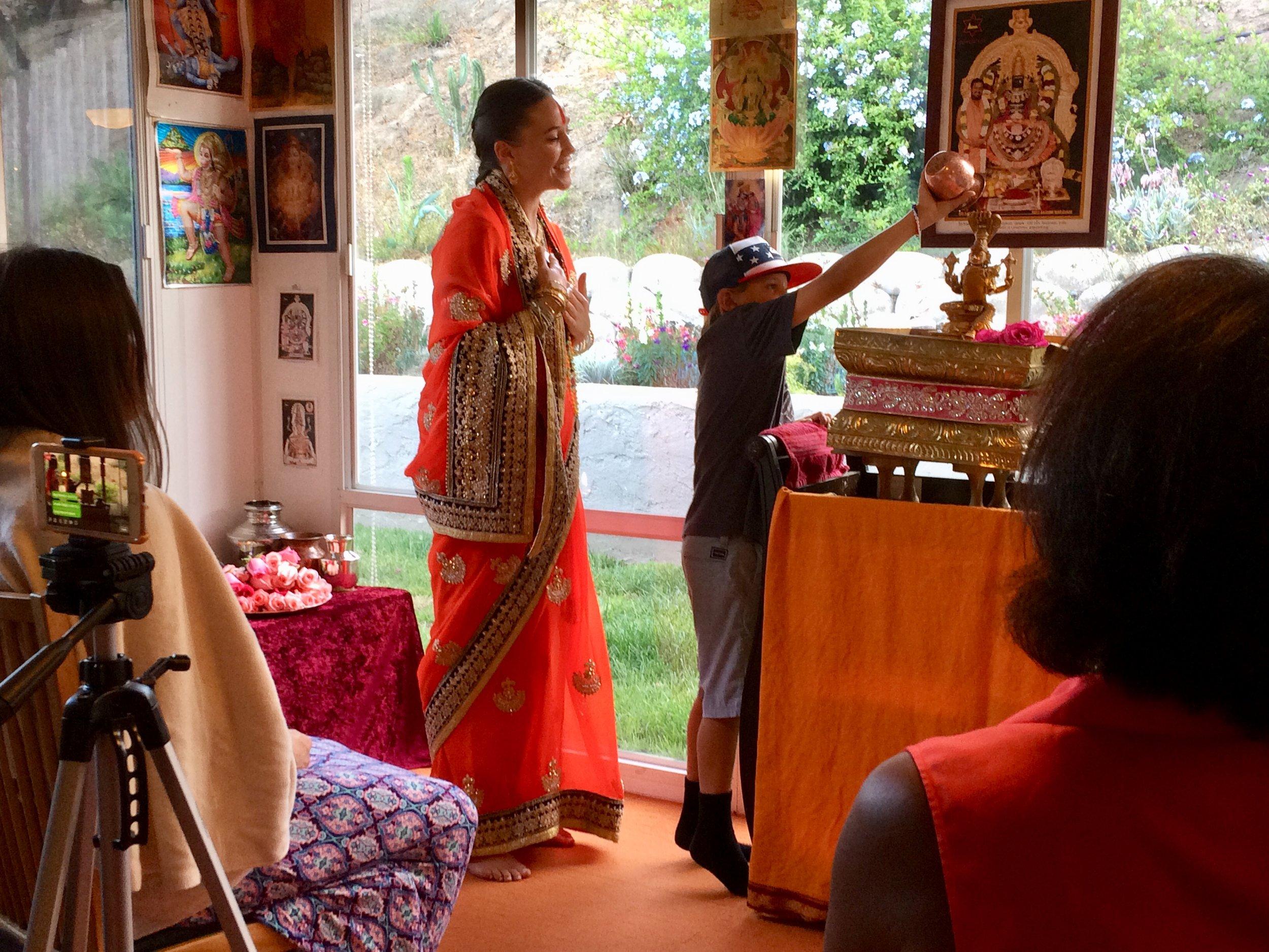 daily abishekem Narayani puja