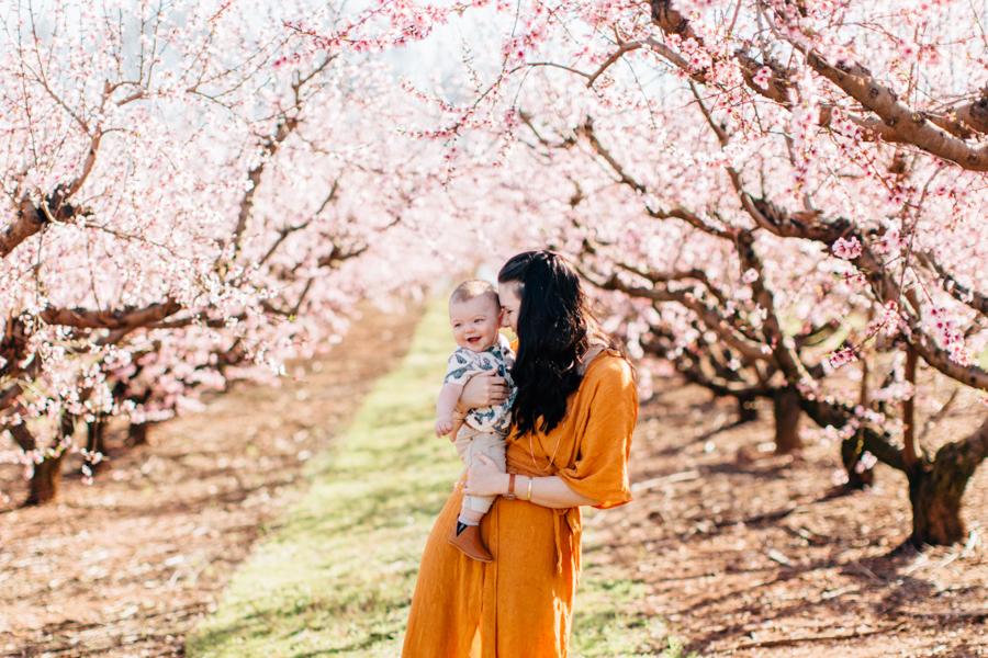 Four Corners Photography Atlanta Family Photographer Peach Blossom Family Session Athens Family Photographer Mills Spring Session 2017
