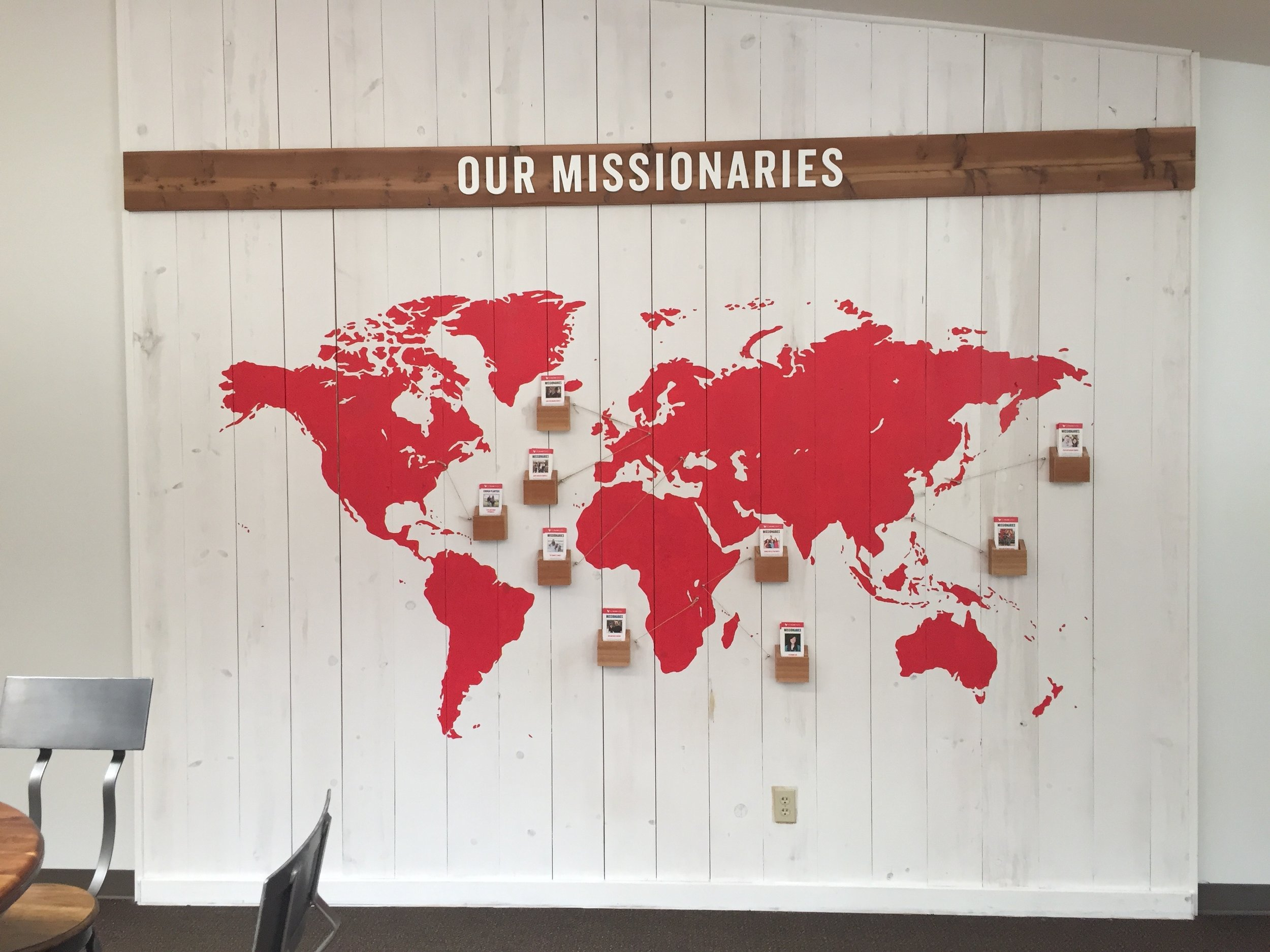 missions wall world map
