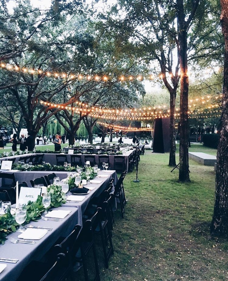 Wedding at Nasher Sculpture Museum  event:  Three Twelve Co.