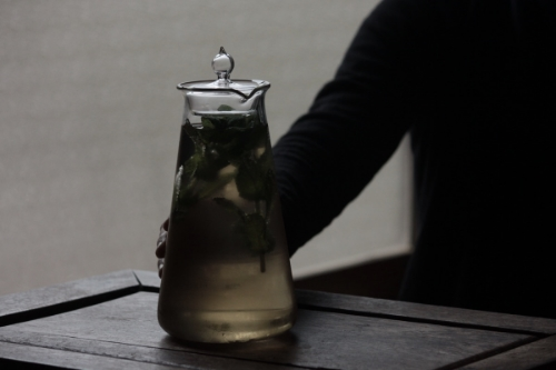 conical beaker bottle by Koizumi Glass