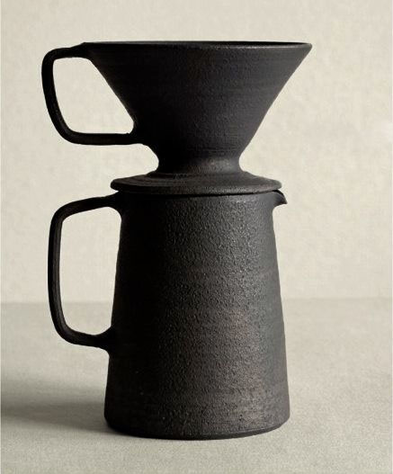 Ceramic Coffee Pot + Dripper Set by Takeshi Omura (MADE TO ORDER)