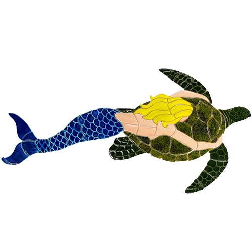 Mermaid with Turtle (Blonde)
