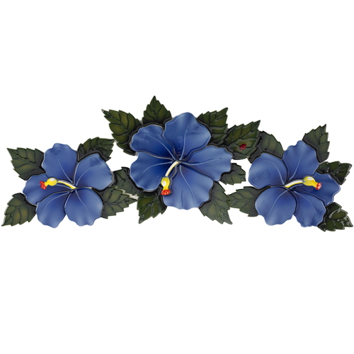 Triple Hibiscus (Blue)