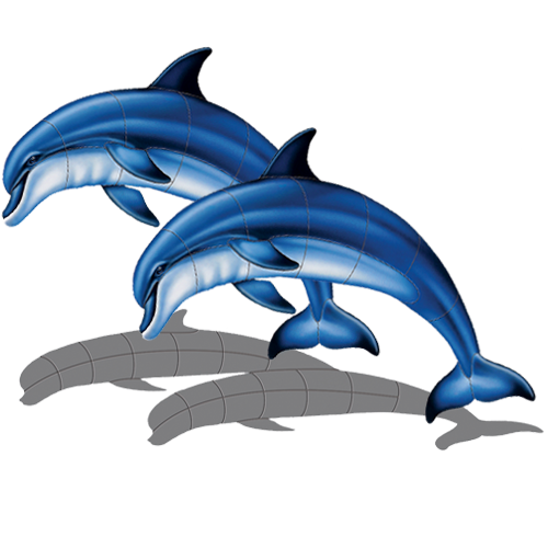 Double Bottlenose Dolphin A w/sh