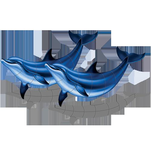 Double Bottlenose Dolphin B w/sh