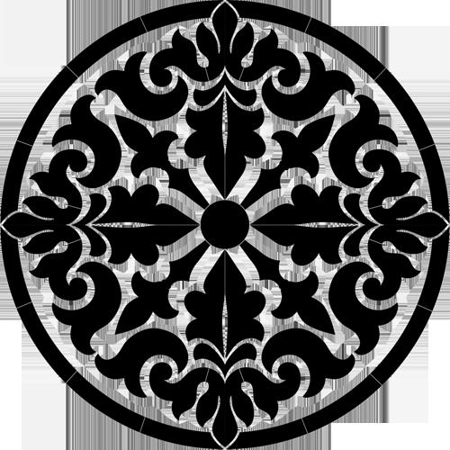 Baroque Medallion (Black)