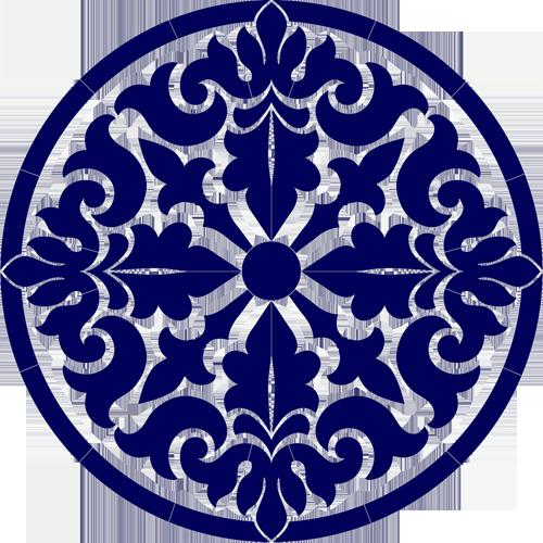 Baroque Medallion (Blue)