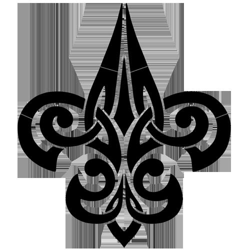 Tribal Fleur de Lis (Black)
