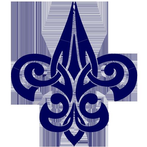 Tribal Fleur de Lis (Blue)