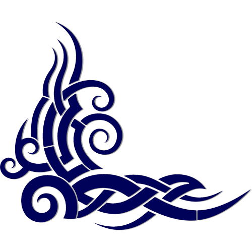 Tribal Wave (Blue)