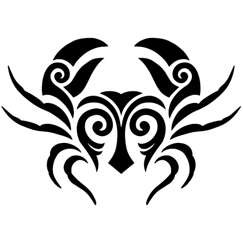 Tribal Crab (Black)