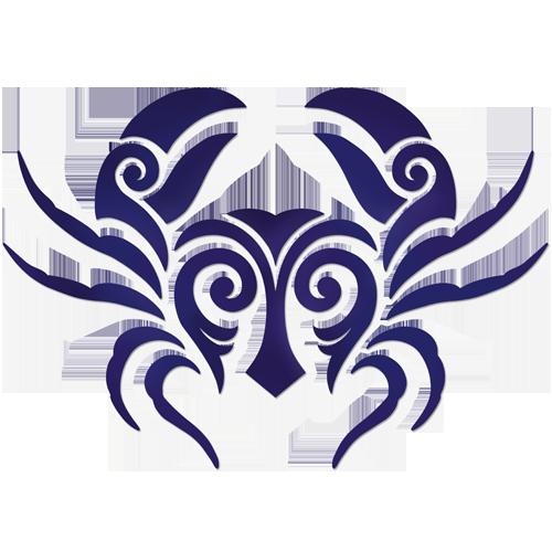 Tribal Crab (Blue)