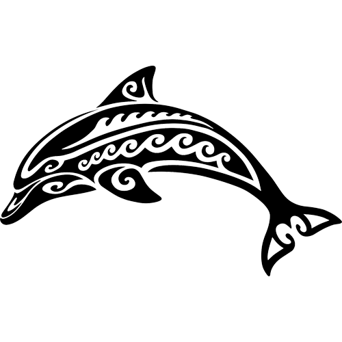Tribal Dolphin (Black)