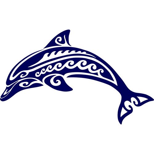 Tribal Dolphin (Blue)