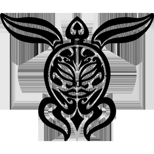 Tribal Turtle (Black)