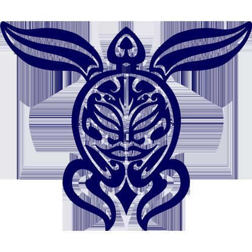 Tribal Turtle (Blue)
