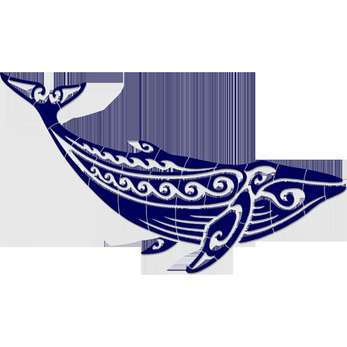 Tribal Humpback Whale (Blue)