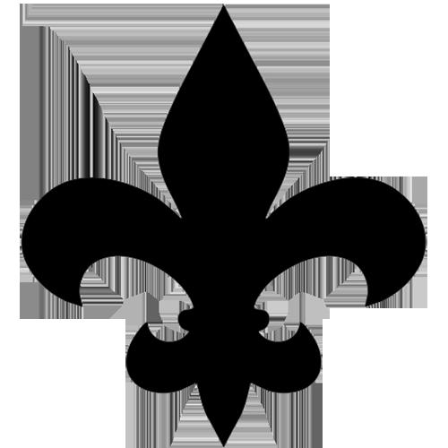 Fleur de Lis Step Markers (Black)