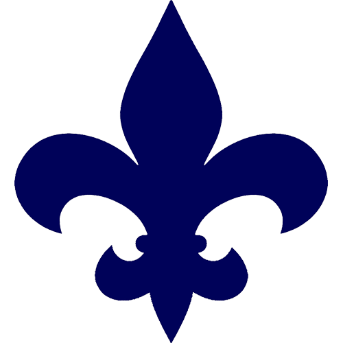 Fleur de Lis Step Markers (Blue)