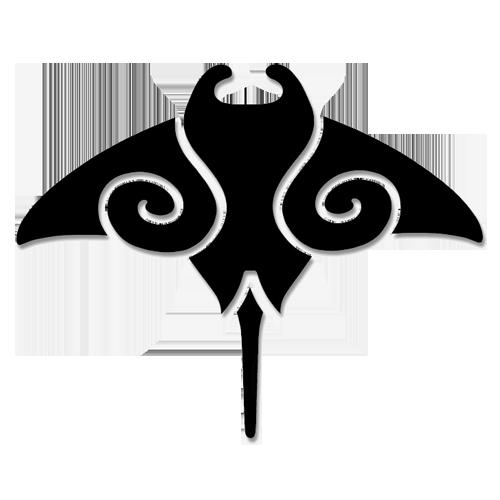 Manta Ray Step Markers (Black)
