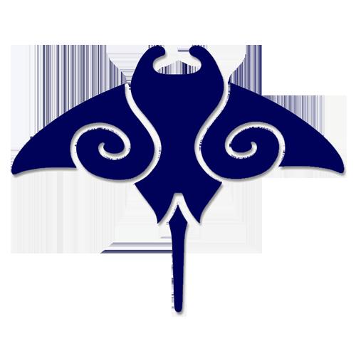 Manta Ray Step Markers (Blue)