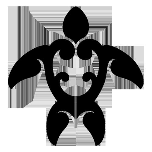 Tribal Turtle Step Markers (Black)