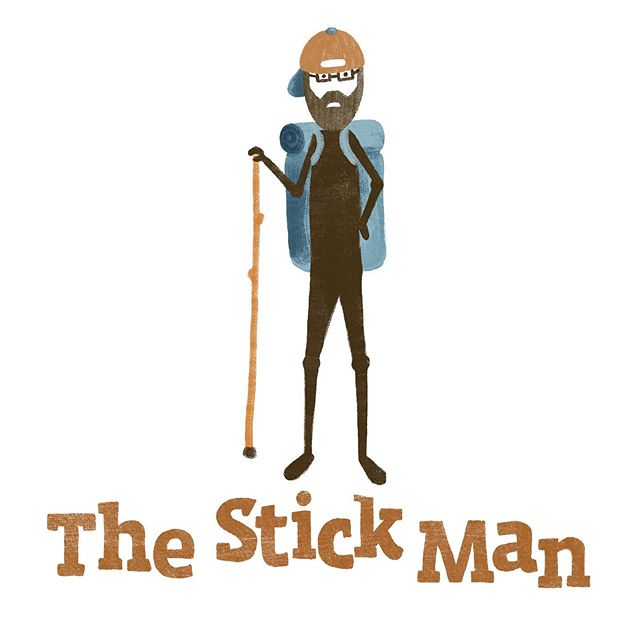And now for something completely different. . We think logos should reflect the  brand styles of our clients not our own. This client (Amber's brother) is a legally blind hiker who makes hiking sticks and canes. He requested a logo of a stickman carrying a hiking stick and wearing a backpack and glasses. How do you think we did? . (slide to see his tags) . TAGS: #procreatelogo #thestickmanwalkingsticks #designforcreatives #handdrawnlogo #handdrawntype #creativebranding #cltagenda #charlottegraphicdesign #charlottenetworking #wearethecreativeeconomy #brandbuilding #designshowcase #cltlocal #charlottedesigner #wearemakers #makermade #heytheremaker