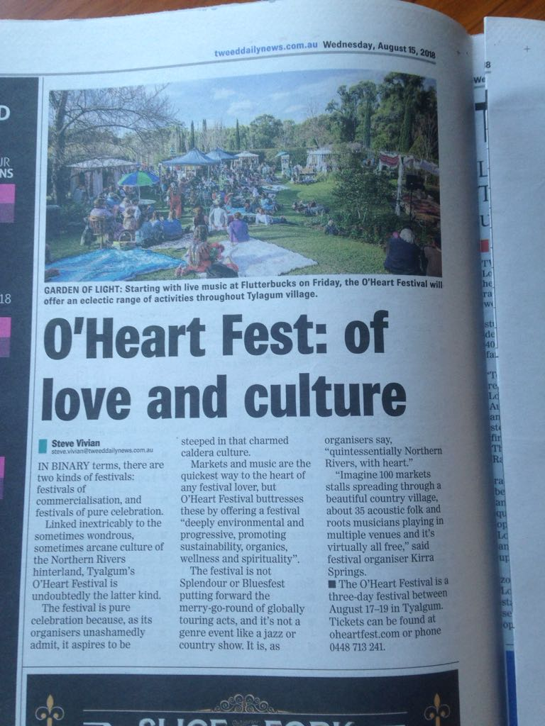 O'heart Festival 2018 was a NSW Government Flagship Event