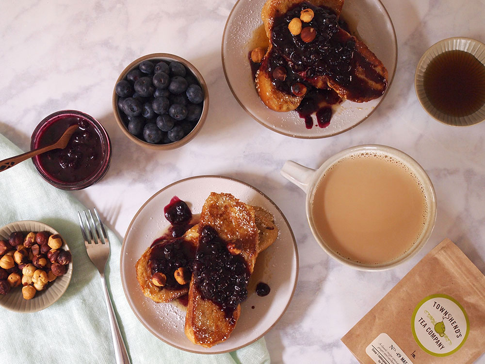 Chai Blueberry Sauce over French Toast - Beginning with Bergamot