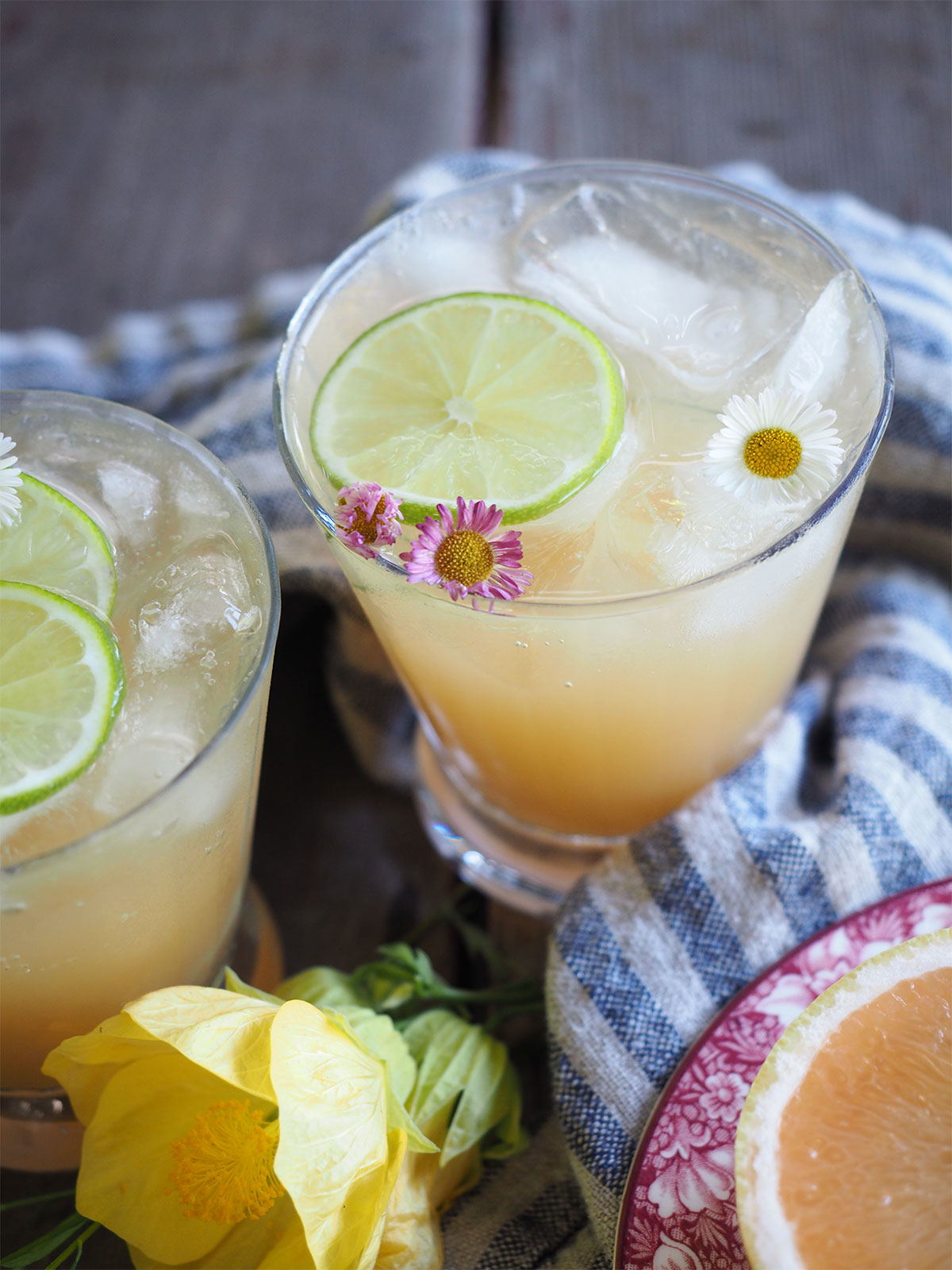 Chamomile-infused tequila turns this Paloma into a whole new cocktail. It's a super refreshing spring or summer treat made even better with Pamplemousse La Croix!