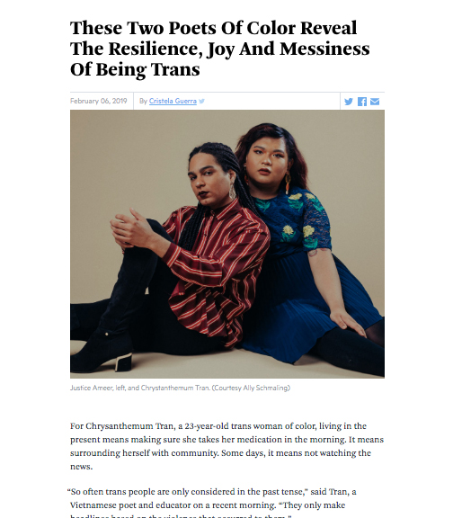 A profile in WBUR's The ARTery, written by  Cristela Guerra , ahead of the show's debut.