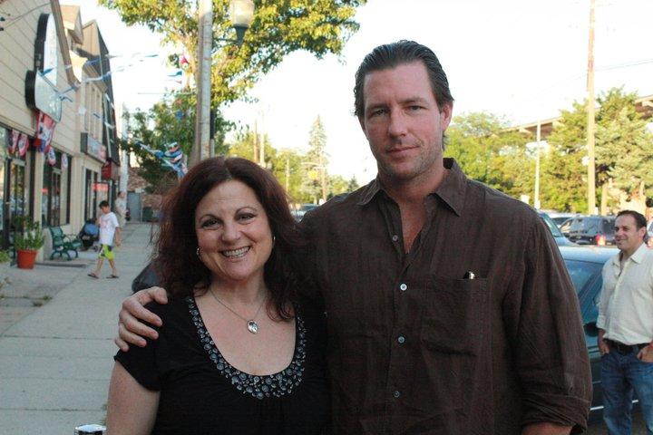 Debra with filmmaker Ed Burns