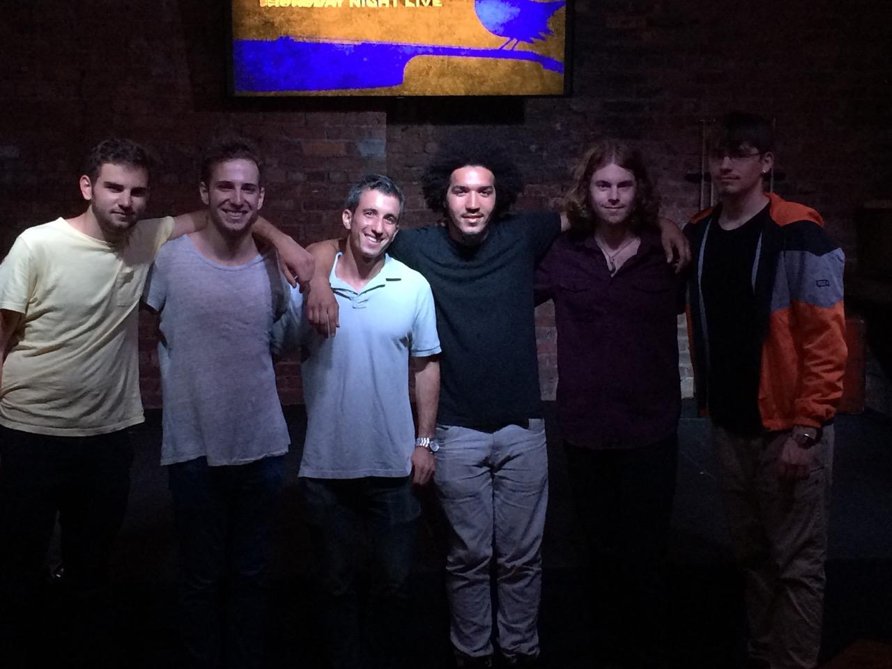 Left to right: Eric Pubins, Luke Lotardo, Jason Melker, Dud Music, Perry Ladouceur, Eric Milton