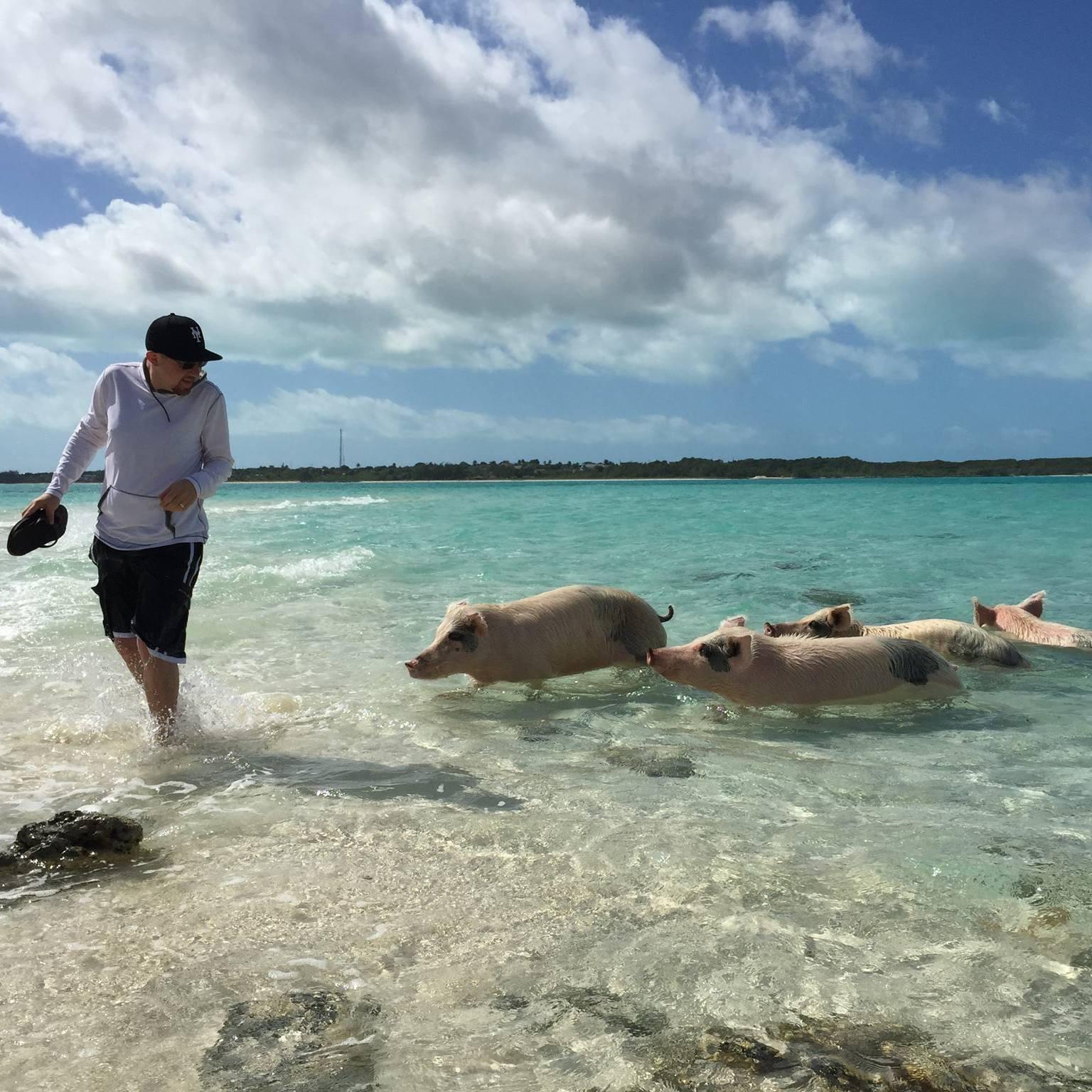 Adam Weiser on a rare vacation