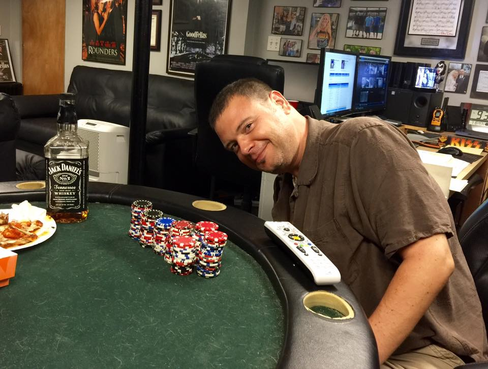 Tim at the poker table